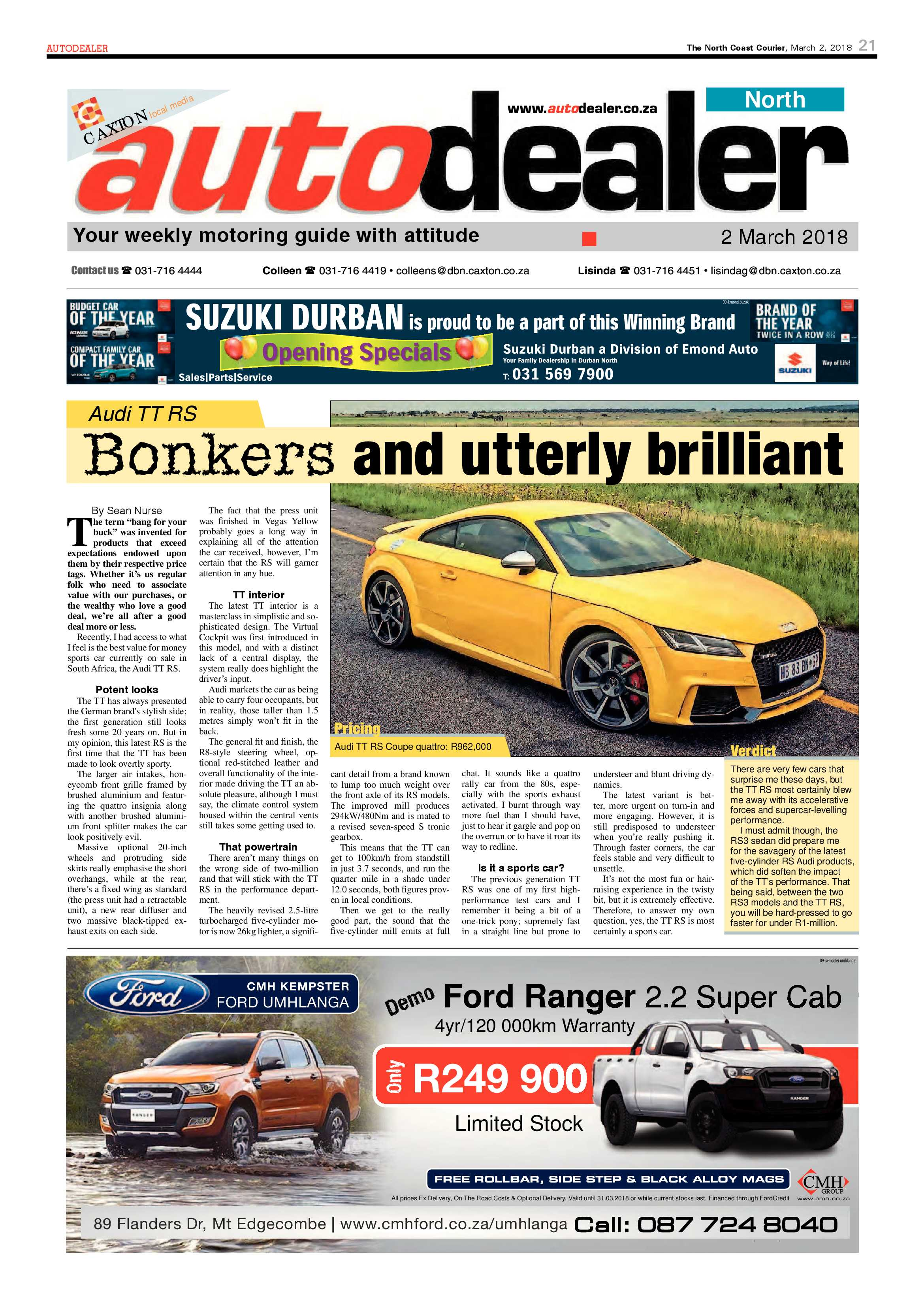 The North Coast Courier – 02 March 2018