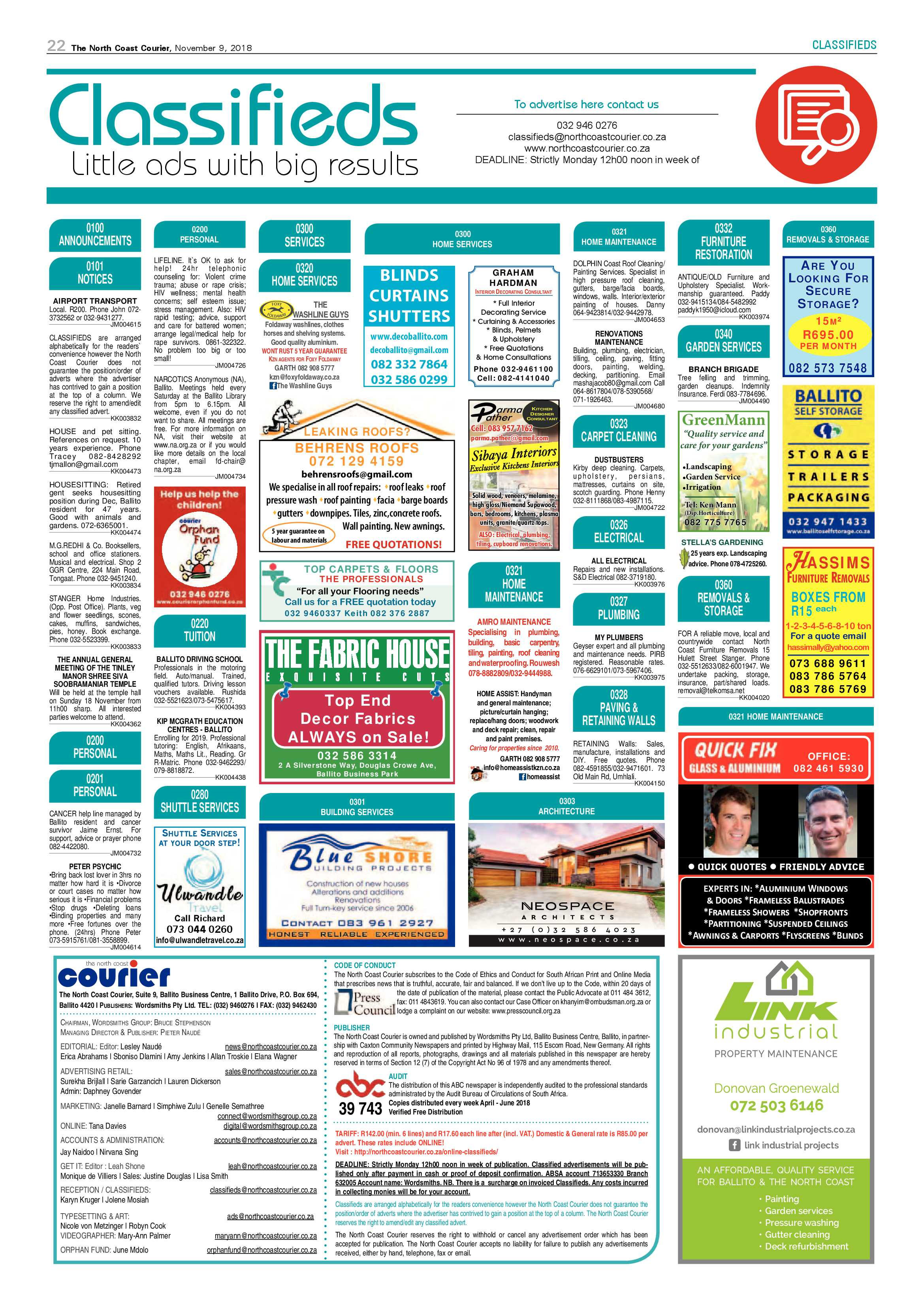 north-coast-courier-09-november-2018-epapers-page-22