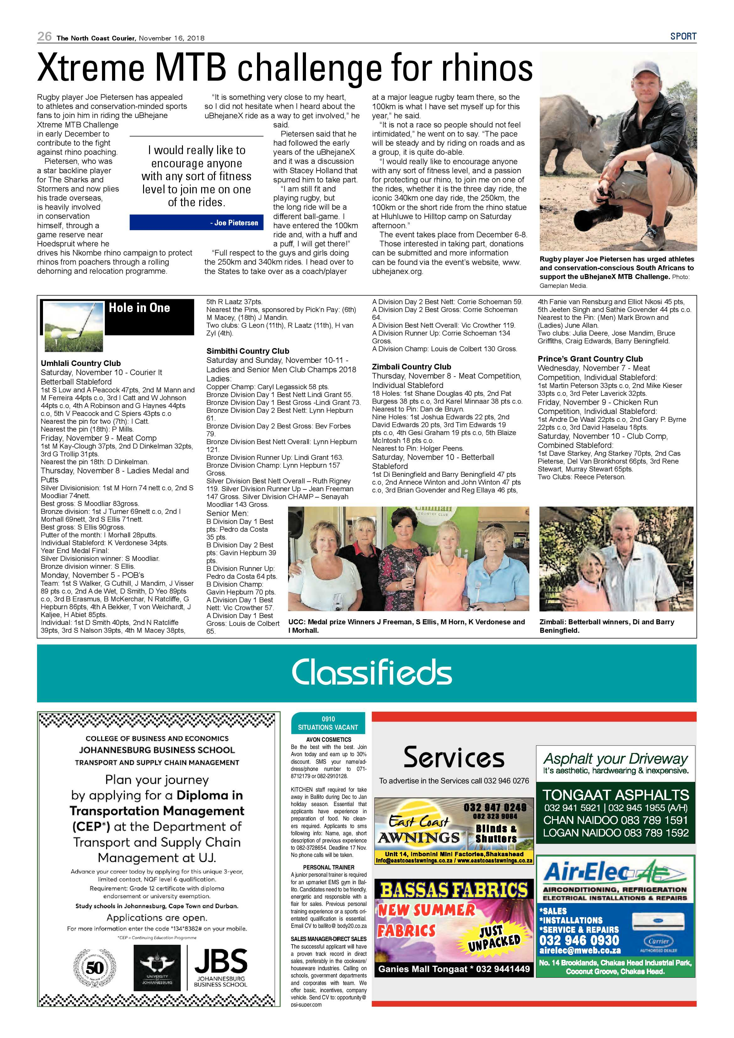 The North Coast Courier – 16 November 2018 | North Coast Courier